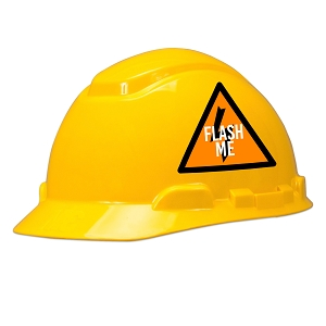 Flash Me Hard Hat Helmet Sticker